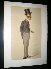 Vanity Fair Print 1876 Marcus Beresford, Spy Cartoon